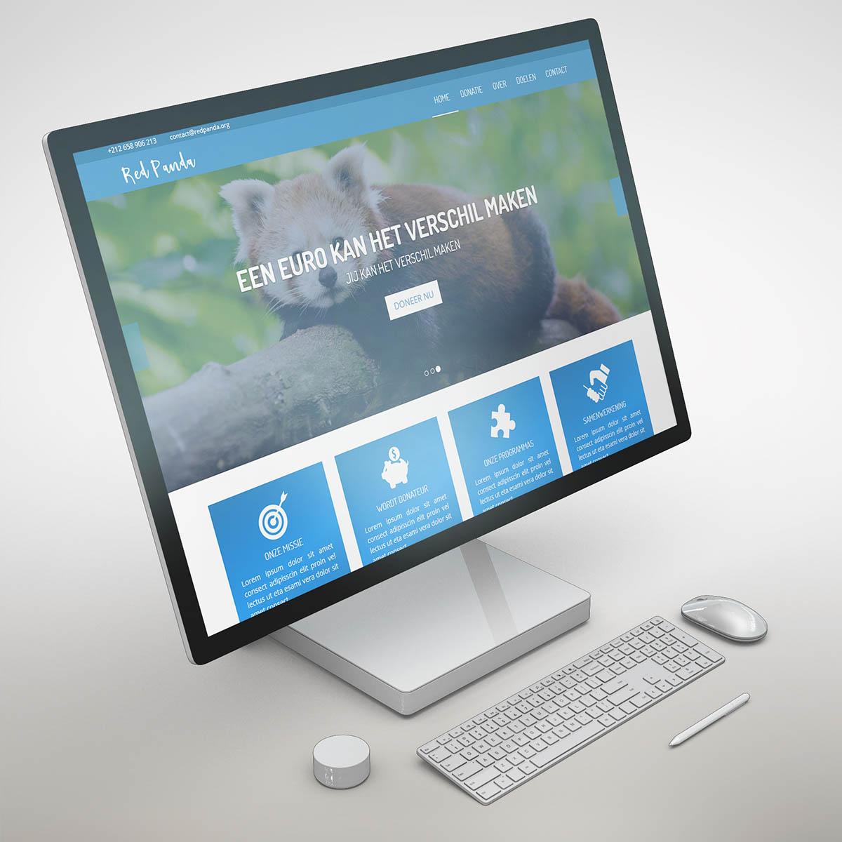 Red Panda Donatiewebsite